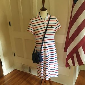 Vineyard Vines Red, White and Blue polo dress